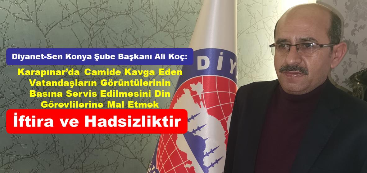 """Başkan Ali Koç: """"Din Görevlilerimizi Töhmet Altında Bırakmak Hadsizliktir."""""""