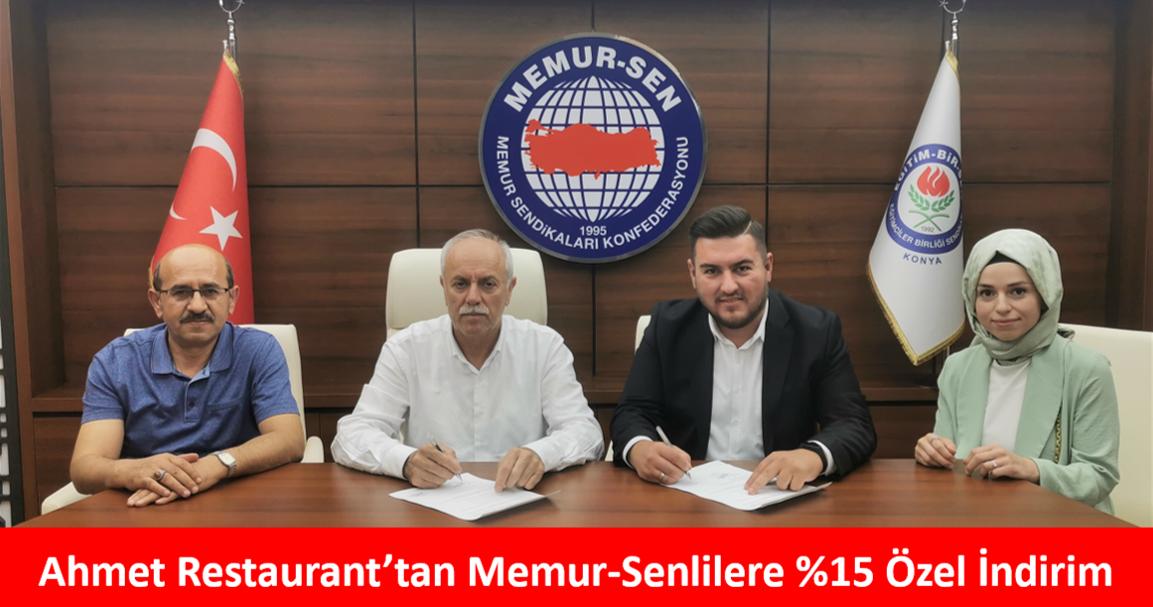 Ahmet Restaurant'tan Memur-Senlilere %15 Özel İndirim